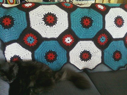 Octagon Baby Afghan Crochet Pattern : 43 best images about Octagon Square Afghan Challenge with ...