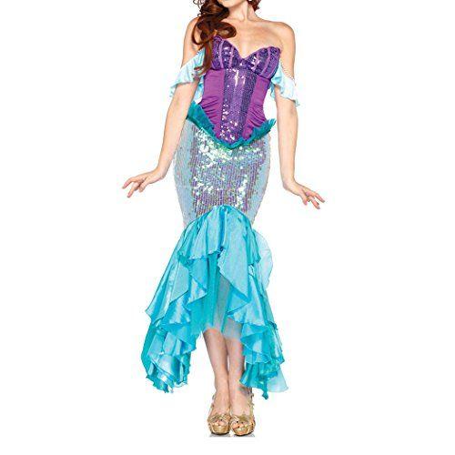 Damen Meerjungfrau Kostüm zu Karneval, Halloween oder Fasching   ca €22