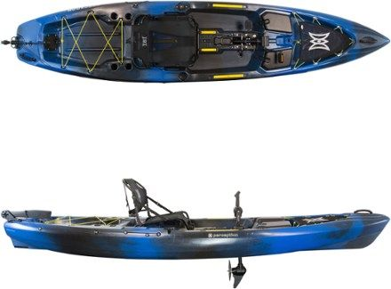 Packed to the gills with fishing features, the Perception Pescador Pilot 12.0 Pedal kayak is equipped with a performance-engineered pedal drive system for hands-free fishing or recreational cruising. Available at REI, 100% Satisfaction Guaranteed.