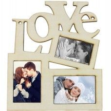 LOVE fa képkeret szerelmes fotók, fényképek számára. Remek Valentin-napi, esküvői ajándék ötlet, évfordulóra is jópofa.