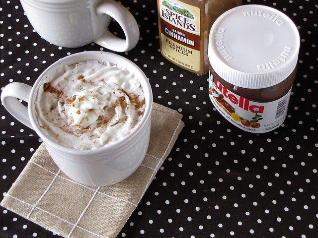 how to make warm nutella drink