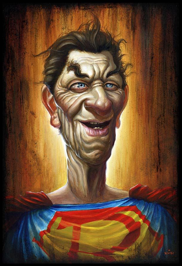 Old Superman – Illustration par N.C. Winters
