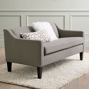 west elm's new sutton sofette. Perfect for small, awkward space in the living room?