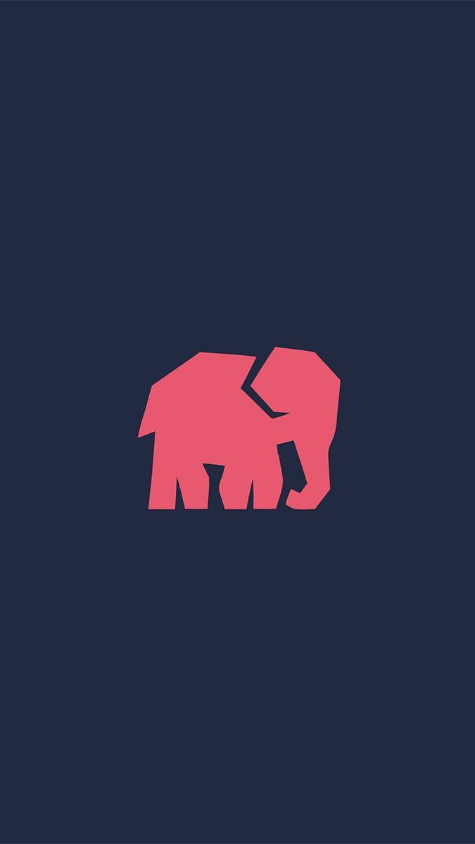 Minimal-Elephant-iPhone-Wallpaper