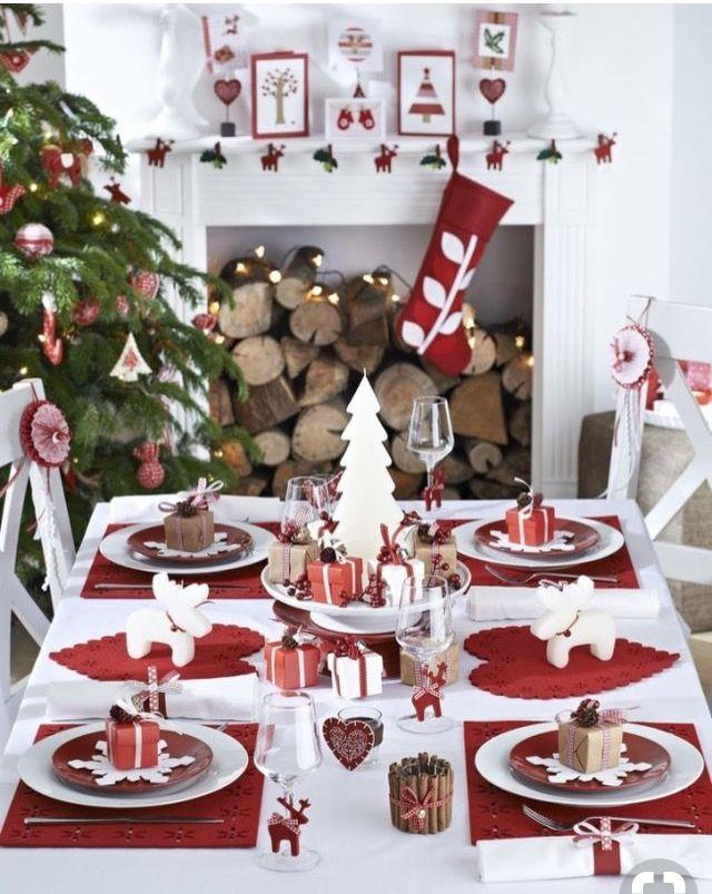 Mesa Navidena Para 4 Personas Hermosa Christmas Tablescapes Christmas Table Decorations Christmas Dining