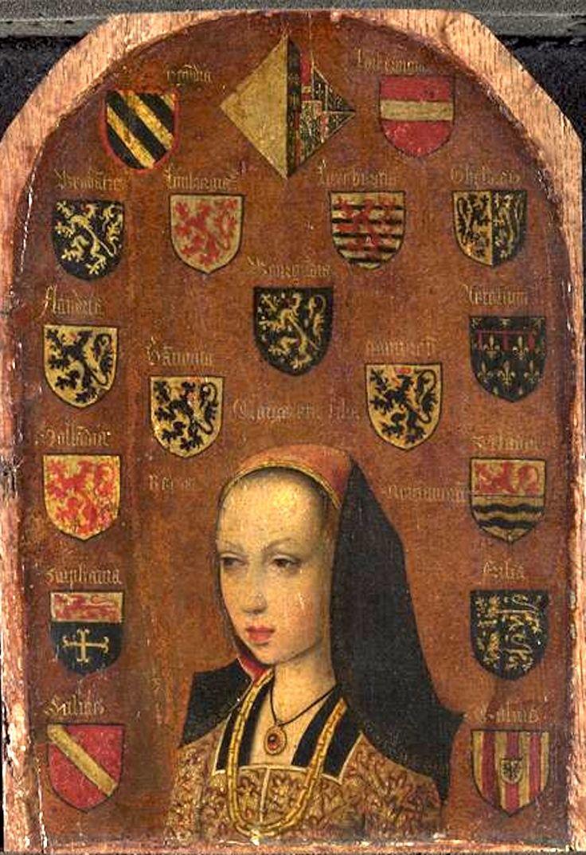 Marguerite d'Autriche, attribué à Pieter I van Coninxloo (fin XVe-XVIe si.) (National Gallery, Londres, Royaume-Uni)