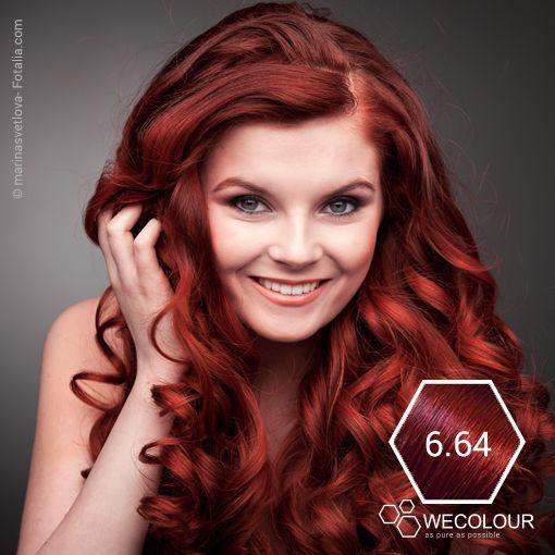 Een gewaagde kleur, maar als je het kan hebben is het prachtig. Doet het heel goed bij een blanke huid, blauwe of groene ogen. Koperrood - kleurhoogte 6. www.wecolour.com #6.71 #haarverfzonderammonia