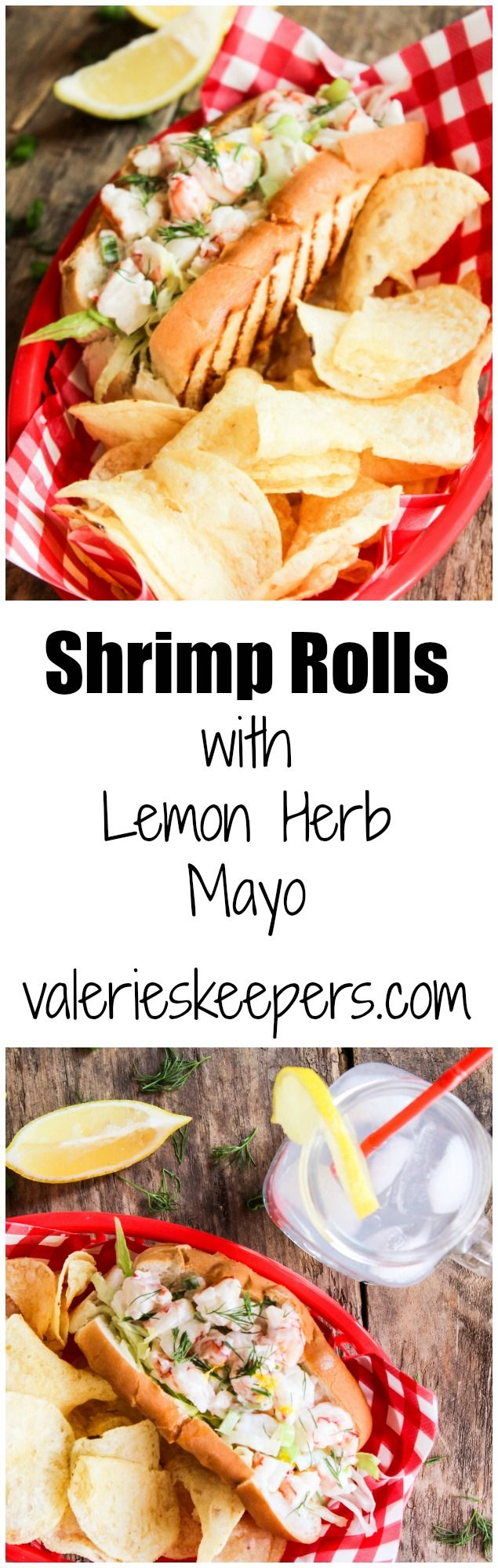 These Shrimp Rolls with Lemon Herb Mayo are incredibly quick & easy to make and just plain delicious...and a lot cheaper than lobster rolls!