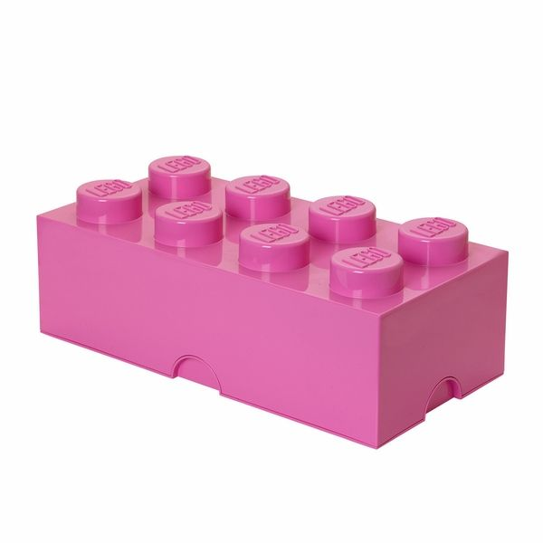 LEGO Storage Brick 8, Medium Pink - free shipping