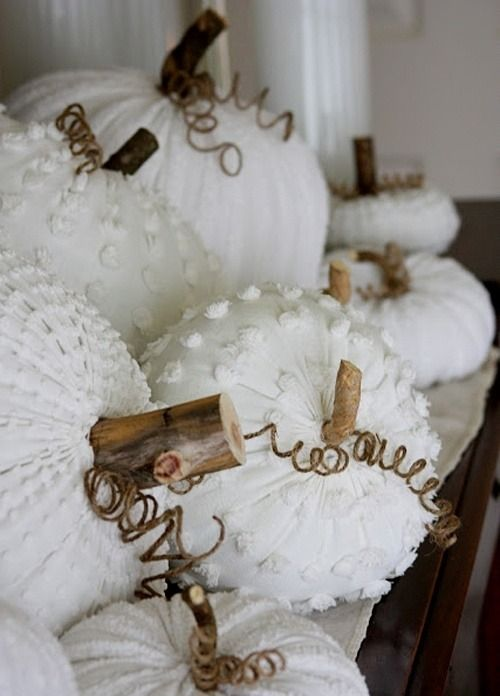 Chenille pumpkins-must remember for next year!