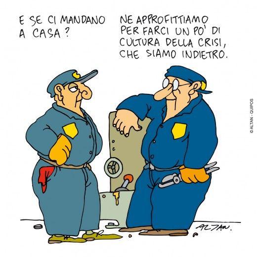 Altan In Mostra Le Vignette Sulla Crisi