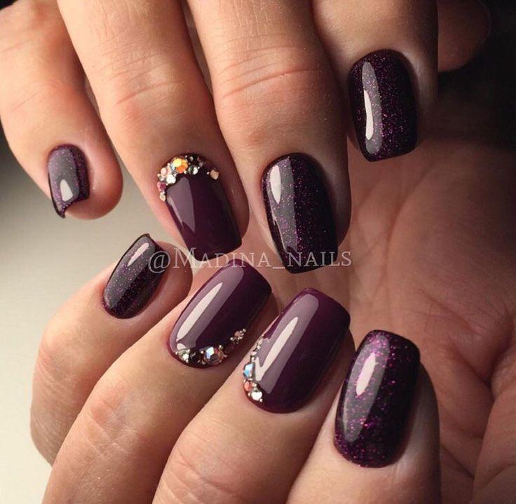 Best 25+ Plum nails ideas on Pinterest | Plum nail polish ...