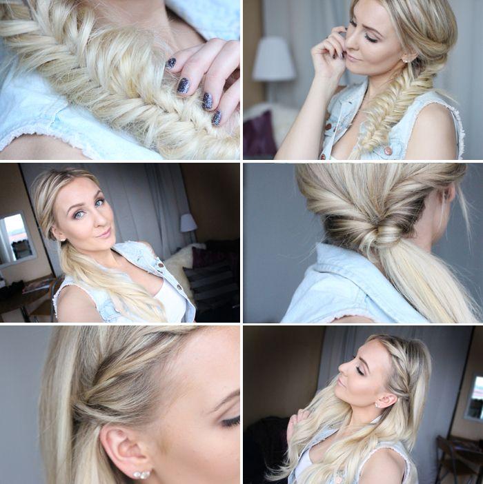 Ser VIDEOTUTORIAL( – 3 Enkla och söta vardagsfrisyrer | Helen Torsgården – Hiilens sminkblogg) på Hair/Hår video.