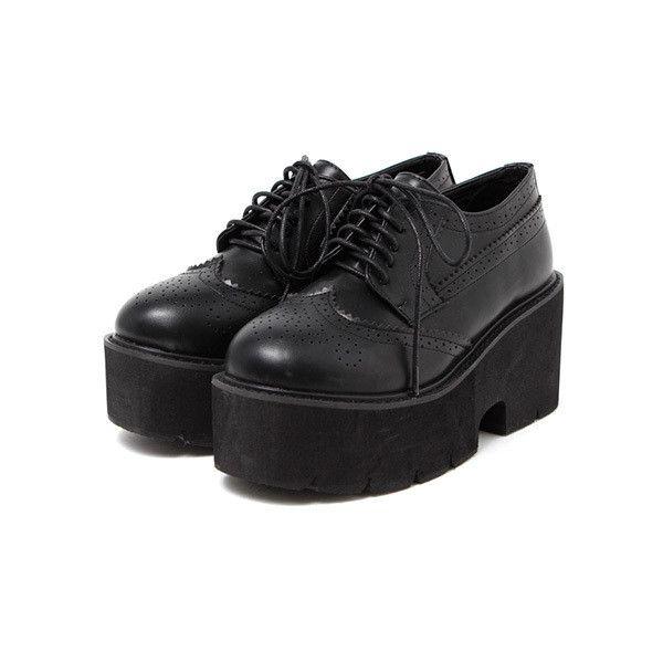 ウィングチップレースアップシューズ「BUBBLES ONLINE STORE【バブルス公式通販サイト】」 ($57) ❤ liked on Polyvore featuring shoes
