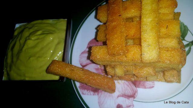 Frites de polenta et sauce aioli // Le blog de Cata