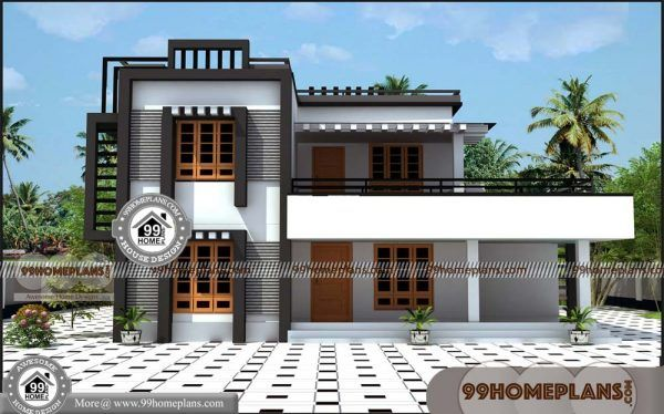 South Indian House Elevation 50 Latest Two Storey House Design Plans House Elevation Indian Homes Small House Elevation