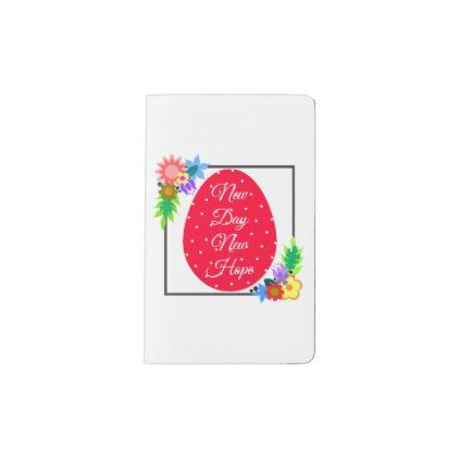 Cute polka dot egg with floral wreath pocket moleskine notebook - floral style flower flowers stylish diy personalize