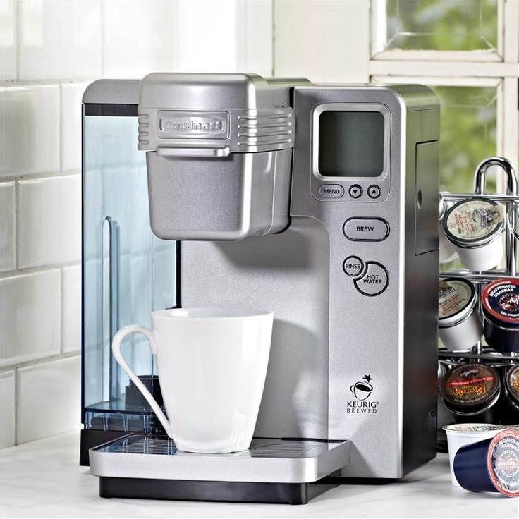 Instantly enjoy coffee, soup, tea or hot chocolate in seconds. With Cuisinart K-Cup single serve coffee makers, you get one great tasting cup at a time! The K-Cup Brewing System will be your new favourite appliance in the kitchen.