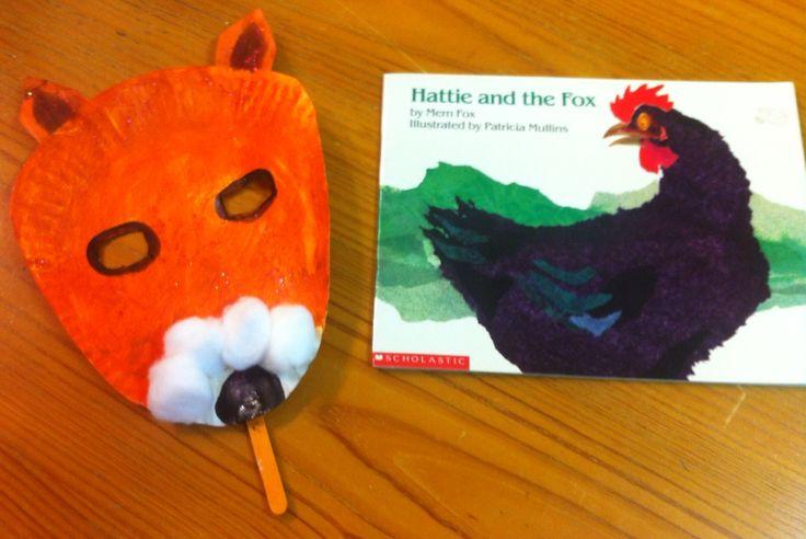 Mem Fox's Hattie and the Fox Storytime Craft.