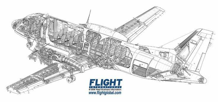 Saab 340 cutaway drawing
