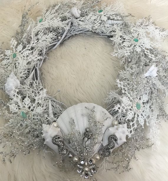 Hello Mermaids! This is my version of a Frozen Mermaid Wreath. I originally made it for my home, but got some great feedback on it so im sharing