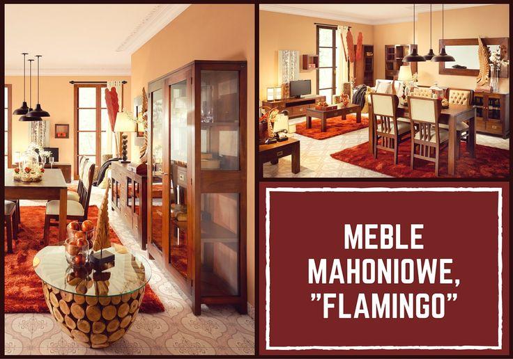 Meble mahoniowe - kolekcja Flamingo