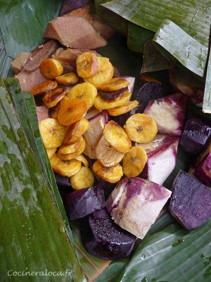 Cuit dans le ahimaa (four tahitien).