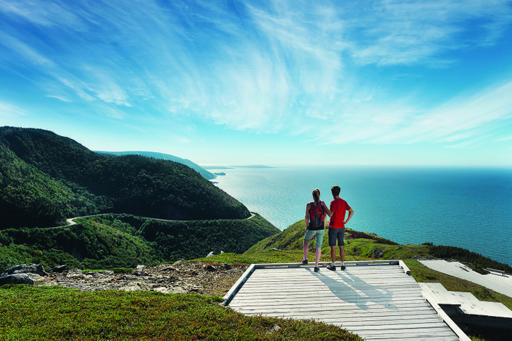 Experience an eagle's view of the Cabot Trail while hiking this meandering boardwalk in the heart of Cape Breton National Highlands Park.  One of 26 stunning hiking trails and 24 viewpoints found in the park.