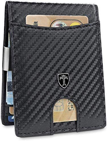 c79a2ed43c75e TRAVANDO Geldbeutel Männer mit Geldklammer Seattle Slim Portemonnaie Wallet  Portmonaise Herren Geldtasche klein Portmonee RFID Schu…