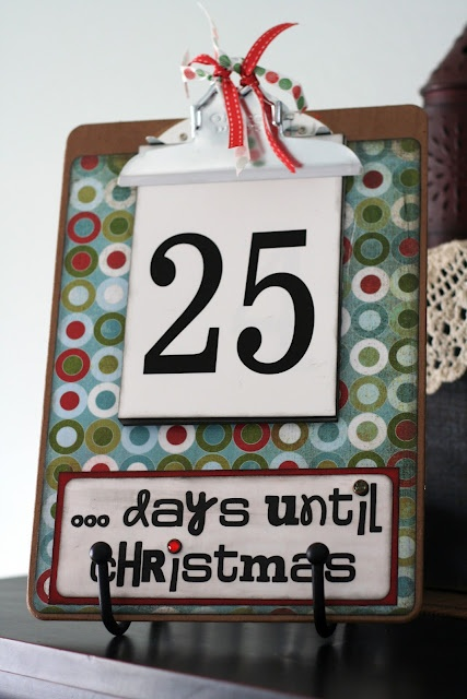 could start now!Holiday, Christmas Cards, Christmas Advent Calendar, Christmas Countdown, Crafts Ideas, Christmas Crafts, Countdown Clipboards, Christmas Ideas, Christmas Projects