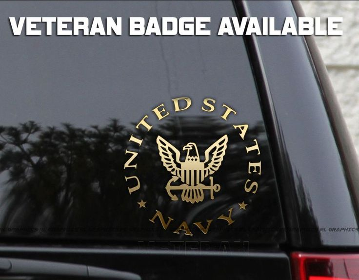 Us navy veteran car truck window laptop decal sticker 6x6 oracal