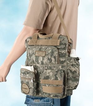 Camouflage Daddy Diaper Bag from Baby Gifts and Gift Baskets @Sara Hentges haha