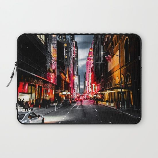 Protect your laptop with a unique Society6 Laptop Sleeve. Our form fitting, lightweight sleeves are created with high quality polyester - optimal for vibrant color absorption. The design is printed on both sides to fully showcase the artwork while keeping your gear protected. #gotham #newyork #nyc #city #street #photography #laptop #sleeve