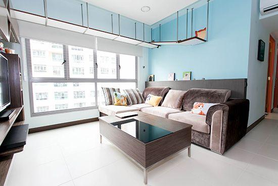 Designer catwalk, climbing shelves, Catification, Interior Design