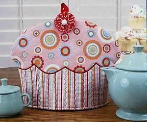 Tea Cupcakes Cupcake Tea Cozy Pattern to Make Sewing Cozies Susie Shore Design | eBay