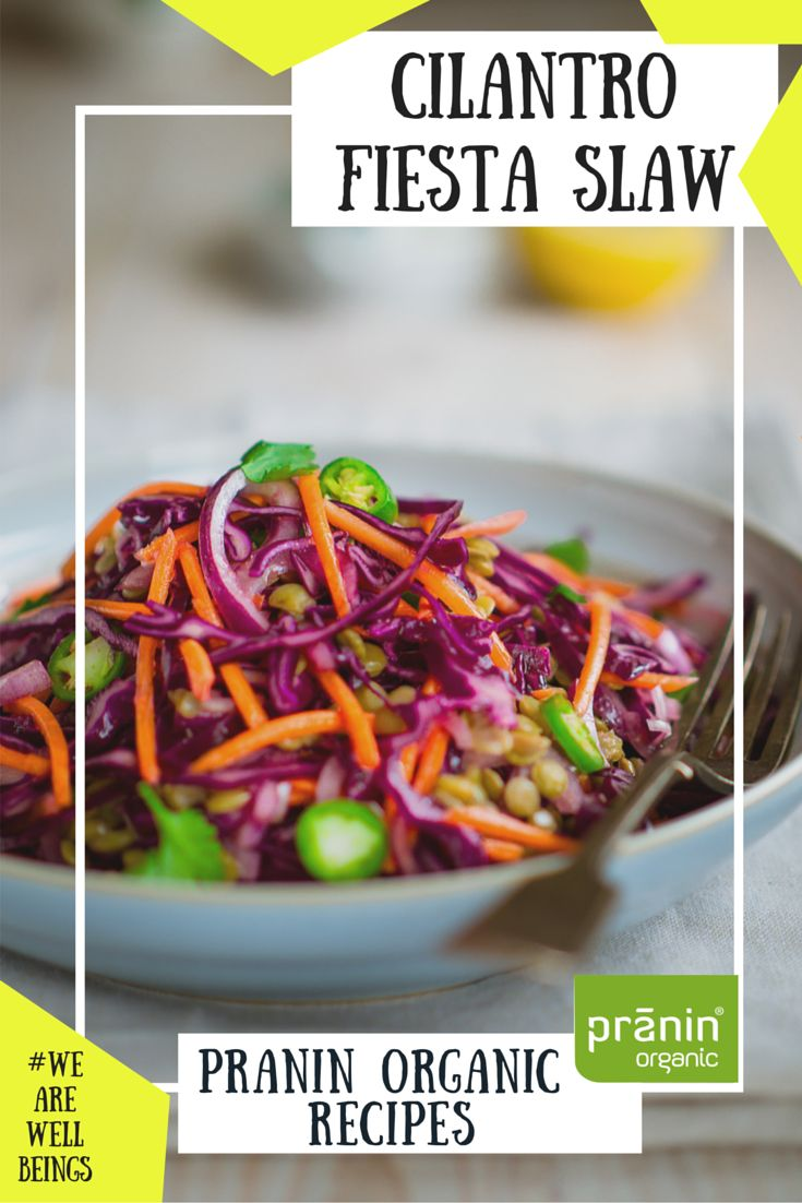 The #fiesta never has to end with this #cilantro, #jalapeno lime bowl. Summertime slaw never looked so fine. #summer #coleslaw #cabbage #vegan #dairyfree #healthy #praninorganic #pranin #organic
