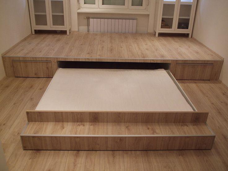 Precíz Asztalos - Belsőépítészet, bútorgyártás, asztalos munkák - Egyszerűtől a Luxusig: Rejtett ágy a nappaliban!