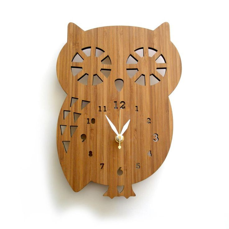 Owl wall clock - Eco-friendly Wall decors for nursery and kids room by decoylab on Etsy https://www.etsy.com/listing/62727476/owl-wall-clock-eco-friendly-wall-decors