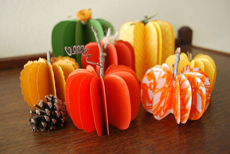 cute autumn pumpkins -- for quick decorating or gifts.