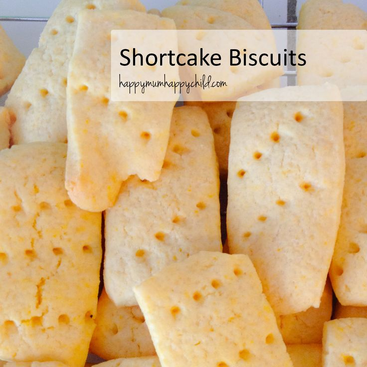 Basically I made these as biscuits accidentally. The recipe is for Shortcake, but I rolled it out and cut them up thinking I was making Shortbread. I do stuff like that all the time. I give these...