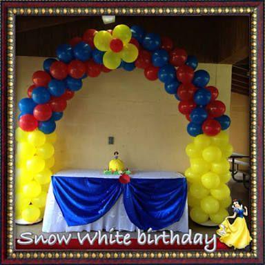 snow white balloon decoration - Buscar con Google