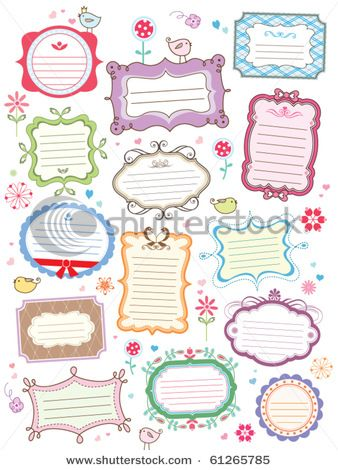Stock Vector Illustration:  cute frames