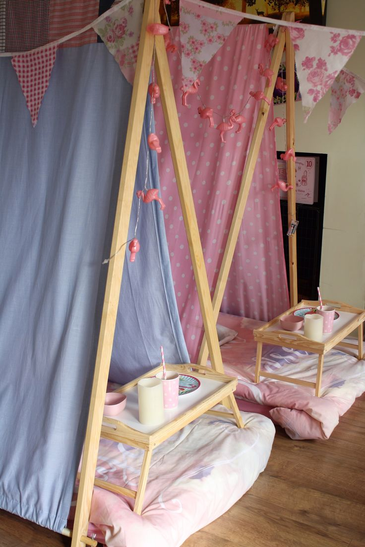 Indoor Tents for sleepovers at www.dollydaydreamspartycaravan.co.uk