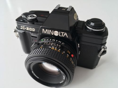Minolta #x-300 film camera & #minolta md 50mm f1.7 manual #focus lens. superb bla,  View more on the LINK: 	http://www.zeppy.io/product/gb/2/351963524605/