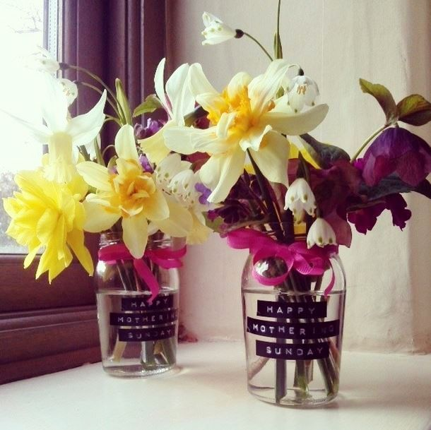 Decorate jam jars with ribbon and Dymo messages - so simple