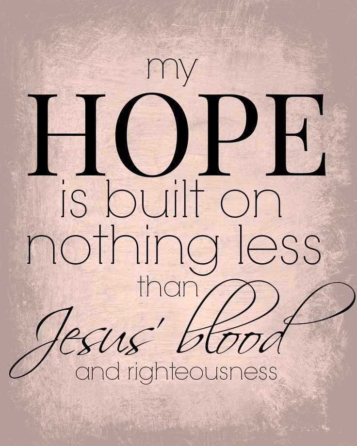 FREE PRINTABLE to remind us of our only HOPE: JESUS.