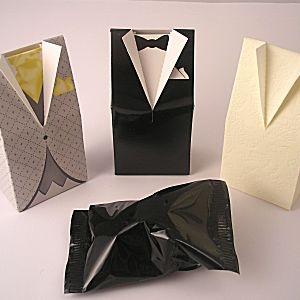 Wedding Fortune Cookie In A Tuxedo Favours Uniqueweddingfavours