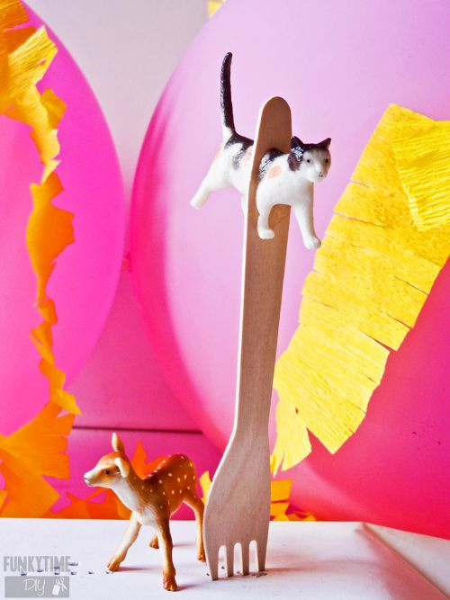 Animal Party Cutlery DIY   From Plastic Animals