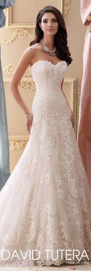 The David Tutera for Mon Cheri Spring 2015 Wedding Dress Collection - Style No. 115237 Justice   davidtuteraformoncheri.com  #weddingdresses