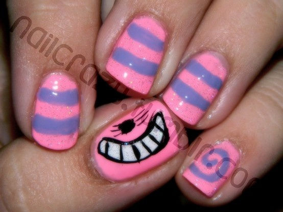 Chesire Cat nails!
